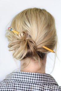 Hair in a bun2