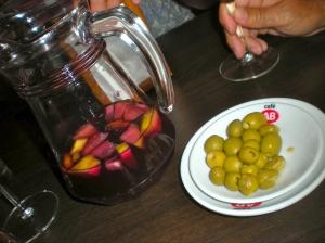 sangria & olives