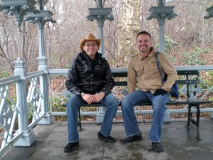 Our trip to NYC together. We had to find and sit where Carrie and Miranda sat in the first movie